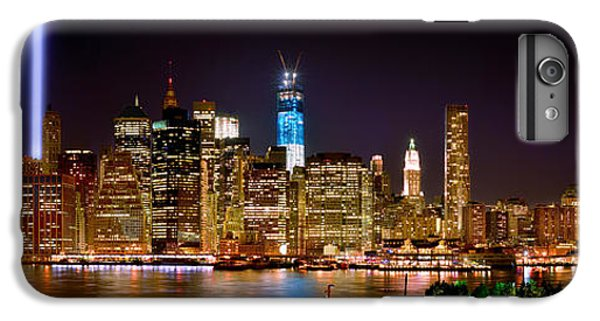 Brooklyn Bridge iPhone 6 Plus Case - New York City Tribute In Lights And Lower Manhattan At Night Nyc by Jon Holiday