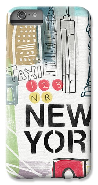 New York Cityscape- Art By Linda Woods IPhone 6 Plus Case by Linda Woods