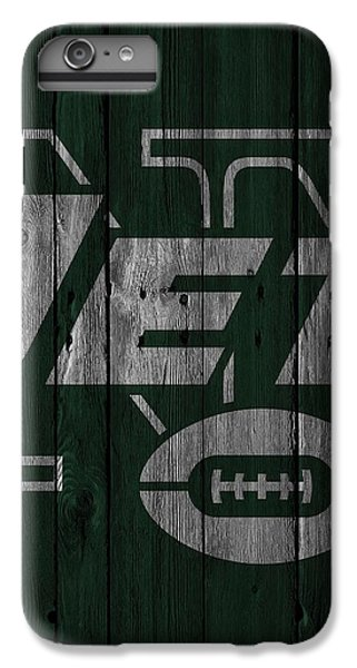 New York Jets Wood Fence IPhone 6 Plus Case by Joe Hamilton