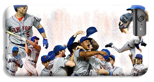New York Mets iPhone 6 Plus Case - New York Mets 2015  Metropolitan Champions by Iconic Images Art Gallery David Pucciarelli