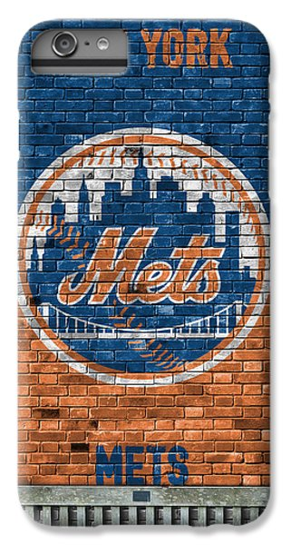 New York Mets iPhone 6 Plus Case - New York Mets Brick Wall by Joe Hamilton