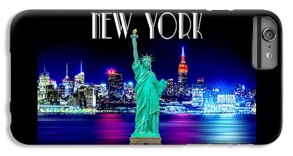 New York Shines IPhone 6 Plus Case by Az Jackson