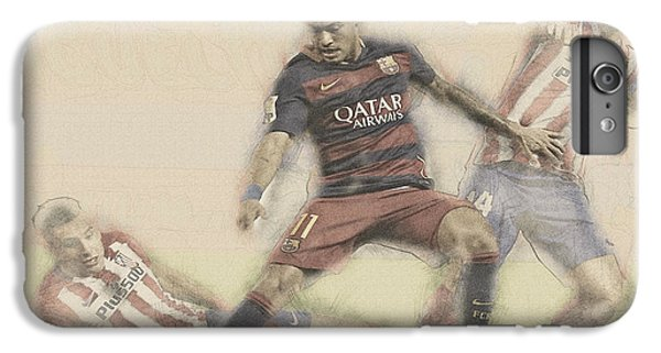 Wayne Rooney iPhone 6 Plus Case - Neymar Fight For The Bal by Don Kuing