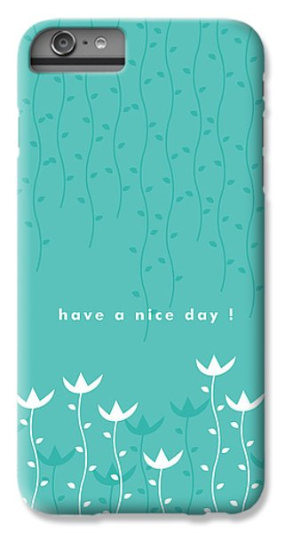 Green iPhone 6 Plus Case - Nice Day by Kathleen Wong