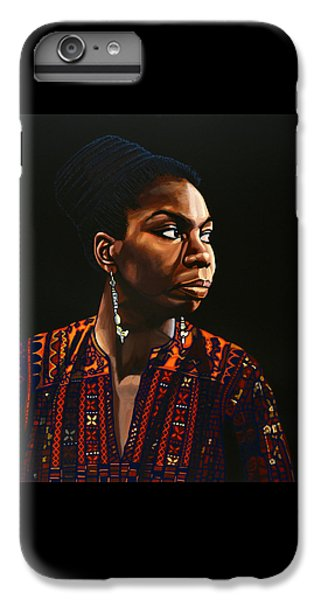 Nina Simone Painting IPhone 6 Plus Case by Paul Meijering