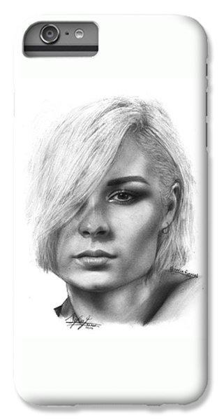 iPhone 6 Plus Case - Nina Nesbitt Drawing By Sofia Furniel by Jul V