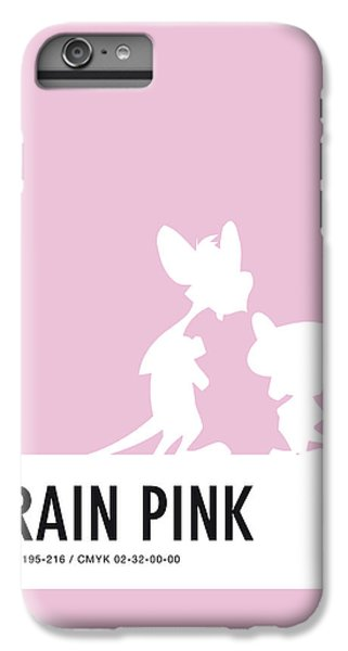 Mouse iPhone 6 Plus Case - No01 My Minimal Color Code Poster Pinky And The Brain by Chungkong Art