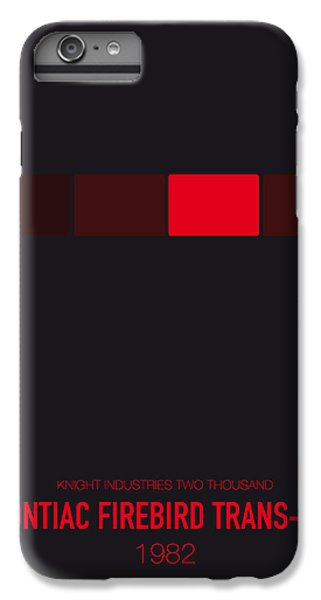 Knight iPhone 6 Plus Case - No019 My Knight Rider Minimal Movie Car Poster by Chungkong Art