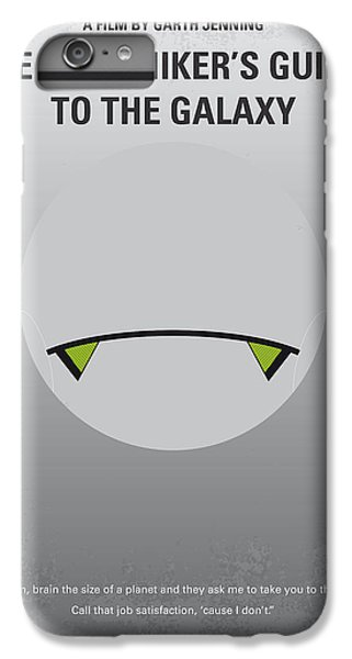 Aliens iPhone 6 Plus Case - No035 My Hitchhiker Guide Minimal Movie Poster by Chungkong Art