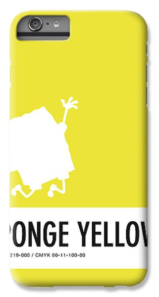 Woodpecker iPhone 6 Plus Case - No10 My Minimal Color Code Poster Spongebob by Chungkong Art