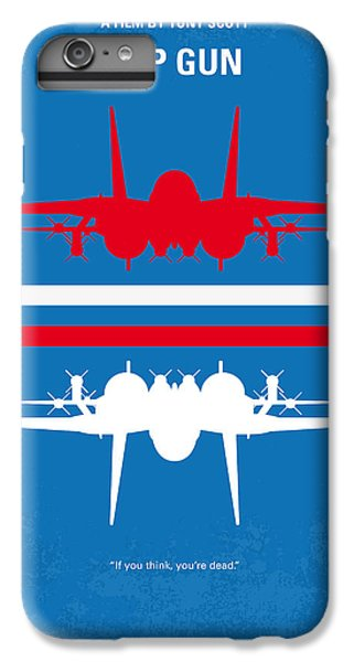 Los Angeles iPhone 6 Plus Case - No128 My Top Gun Minimal Movie Poster by Chungkong Art