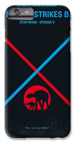 Han Solo iPhone 6 Plus Case - No155 My Star Wars Episode V The Empire Strikes Back Minimal Movie Poster by Chungkong Art