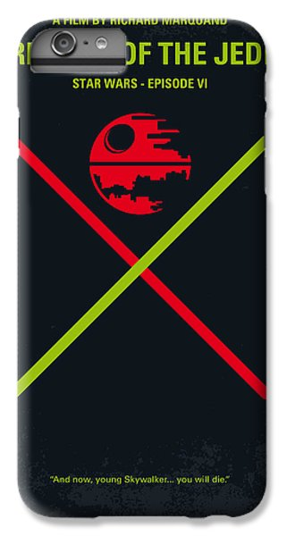 Han Solo iPhone 6 Plus Case - No156 My Star Wars Episode Vi Return Of The Jedi Minimal Movie Poster by Chungkong Art