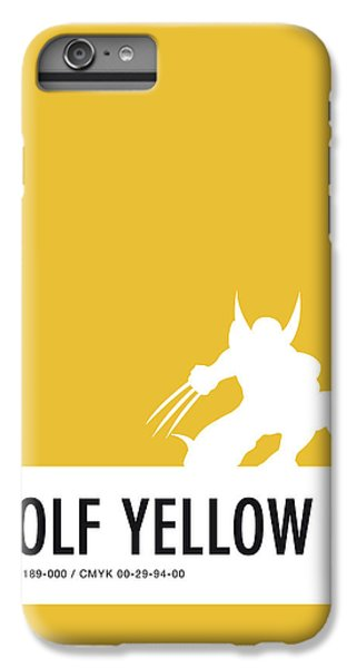 Spider iPhone 6 Plus Case - No21 My Minimal Color Code Poster Wolverine by Chungkong Art