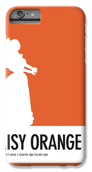 Floral iPhone 6 Plus Case - No35 My Minimal Color Code Poster Princess Daisy by Chungkong Art