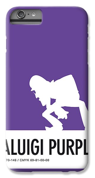 Floral iPhone 6 Plus Case - No42 My Minimal Color Code Poster Waluigi by Chungkong Art