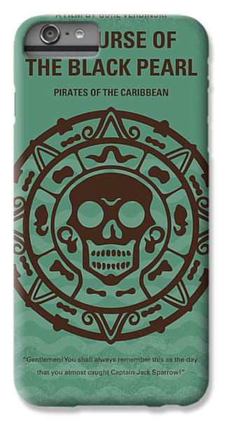 Sparrow iPhone 6 Plus Case - No494-1 My Pirates Of The Caribbean I Minimal Movie Poster by Chungkong Art