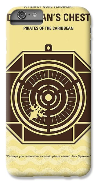 Sparrow iPhone 6 Plus Case - No494-2 My Pirates Of The Caribbean II Minimal Movie Poster by Chungkong Art