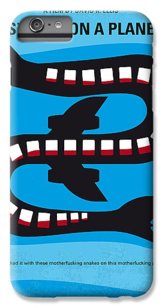 Garden Snake iPhone 6 Plus Case - No501 My Snakes On A Plane Minimal Movie Poster by Chungkong Art