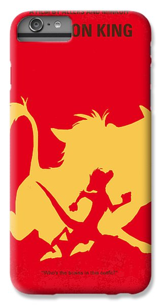 Lion iPhone 6 Plus Case - No512 My The Lion King Minimal Movie Poster by Chungkong Art