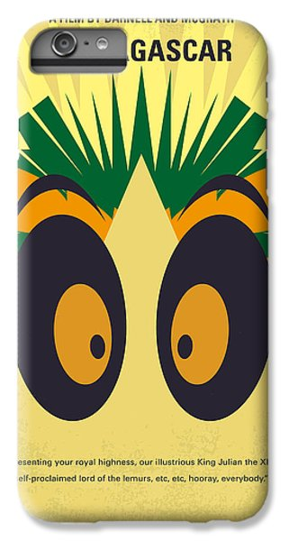 Penguin iPhone 6 Plus Case - No589 My Madagascar Minimal Movie Poster by Chungkong Art