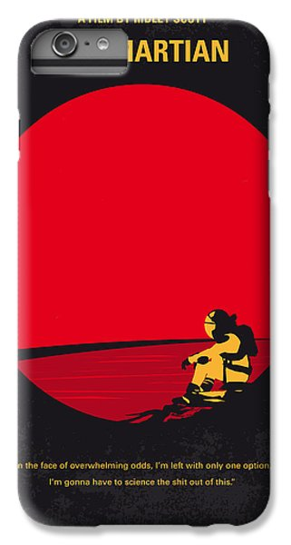 Astronauts iPhone 6 Plus Case - No620 My The Martian Minimal Movie Poster by Chungkong Art