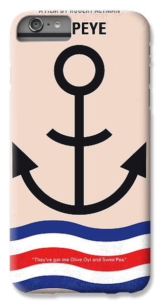 No648 My Popeye Minimal Movie Poster IPhone 6 Plus Case by Chungkong Art