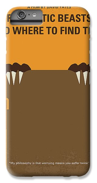 Wizard iPhone 6 Plus Case - No962 My Fantastic Beasts And Where To Find Them Minimal Movie Poster by Chungkong Art