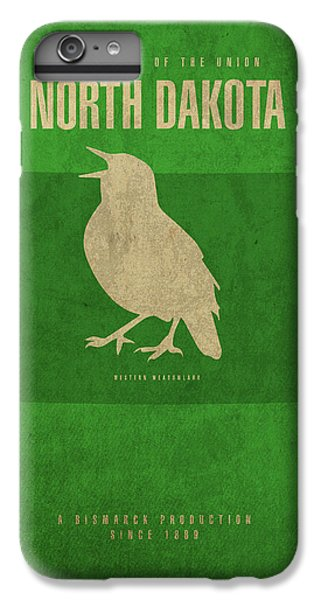 North Dakota State Facts Minimalist Movie Poster Art IPhone 6 Plus Case