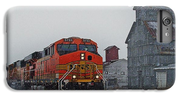 Northbound Winter Coal Drag IPhone 6 Plus Case by Ken Smith