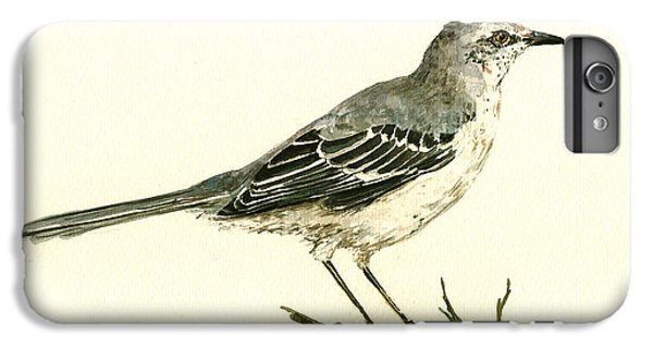 Mockingbird iPhone 6 Plus Case - Northern Mockingbird by Juan  Bosco