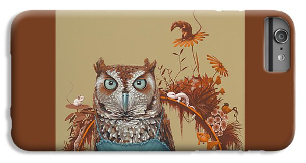 Owl iPhone 6 Plus Case - Northern Screech Owl by Jasper Oostland