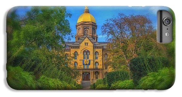 Notre Dame University Q2 IPhone 6 Plus Case by David Haskett
