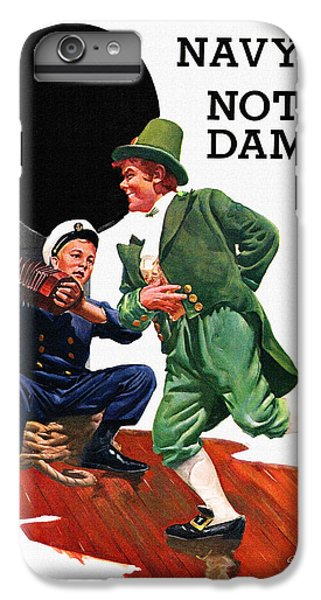 Notre Dame V Navy 1954 Vintage Program IPhone 6 Plus Case