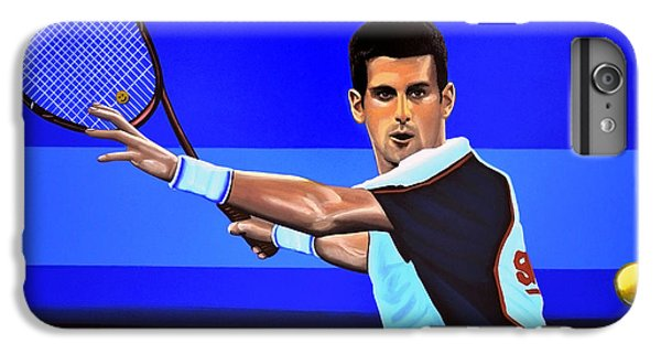 Novak Djokovic IPhone 6 Plus Case by Paul Meijering
