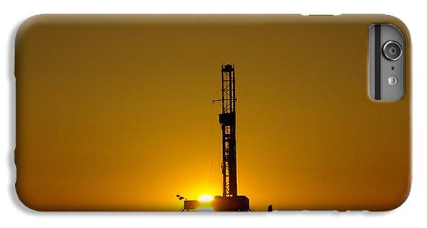 Oil Rig Near Killdeer In The Morn IPhone 6 Plus Case by Jeff Swan