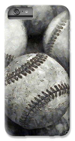 Old Baseballs Pencil IPhone 6 Plus Case by Edward Fielding