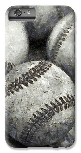 Old Baseballs Pencil IPhone 6 Plus Case by Edward Fielding