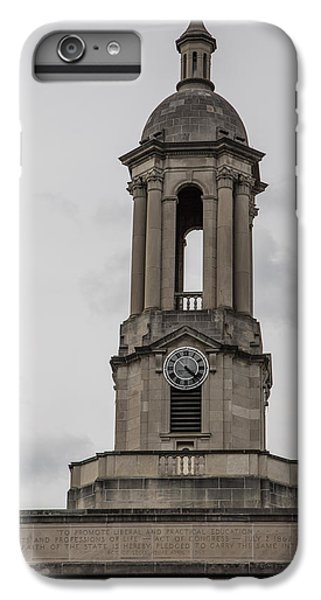 Old Main From Front Clock IPhone 6 Plus Case by John McGraw