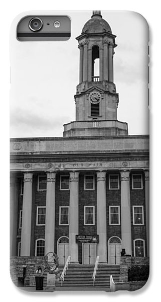 Penn State University iPhone 6 Plus Case - Old Main Penn State Black And White by John McGraw