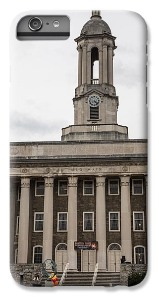 Old Main Penn State From Front  IPhone 6 Plus Case by John McGraw