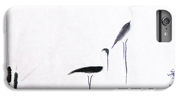 Egret iPhone 6 Plus Case - On Typha Pond by Oiyee At Oystudio