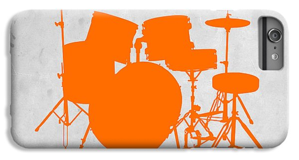 Orange Drum Set IPhone 6 Plus Case by Naxart Studio
