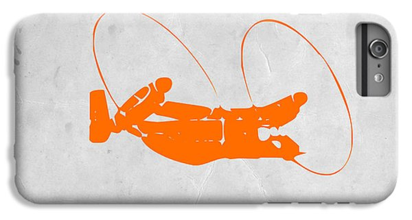 Airplane iPhone 6 Plus Case - Orange Plane by Naxart Studio