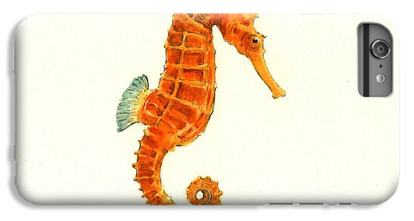 Orange Seahorse IPhone 6 Plus Case