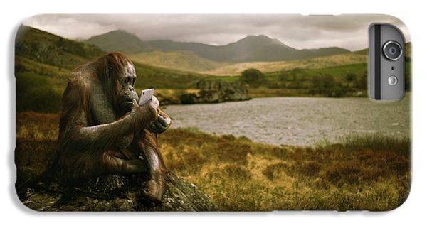 Orangutan With Smart Phone IPhone 6 Plus Case by Amanda Elwell