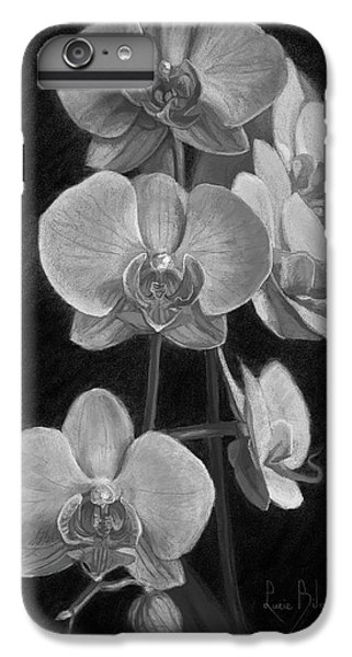 Orchids - Black And White IPhone 6 Plus Case by Lucie Bilodeau
