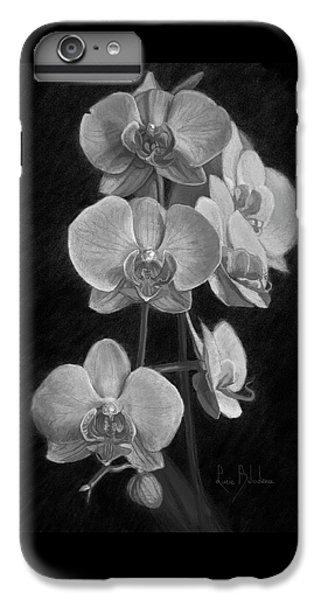 Orchid iPhone 6 Plus Case - Orchids - Black And White by Lucie Bilodeau
