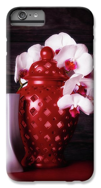 Orchid iPhone 6 Plus Case - Orchids With Red And Gray by Tom Mc Nemar