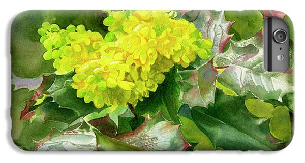 Oregon Grape Blossoms With Leaves IPhone 6 Plus Case by Sharon Freeman